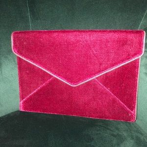 Rebecca Minkoff Leo Clutch Handbag Crushed Velvet